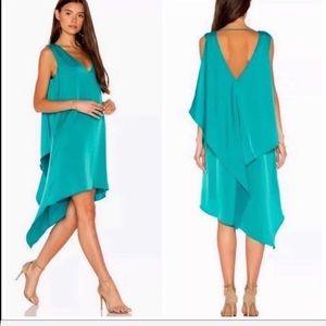 SHANA Hi Low Emerald Dress